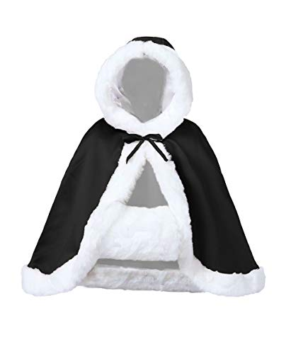 Wedding Cape Hooded Cloak for Bride Winter Reversible