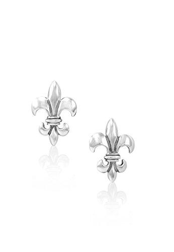 Mignon Faget Fleur de Lis Cufflinks Sterling Silver