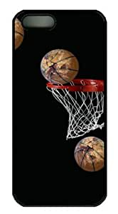 Basketball Going in Basket DIY Hard Shell Black iphone 5/5s Case Perfect By Custom Service