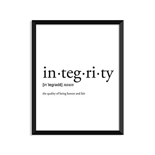 HaiGuoQu Integrity Definition - Framed Art Print Poster Or Greeting Card Wall Art Home Decor 14x11in