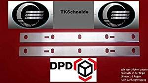 Woodstar Ersatzhobelmesser f/ür PT 105 Abricht /& Dickenhobel 2 St/ück