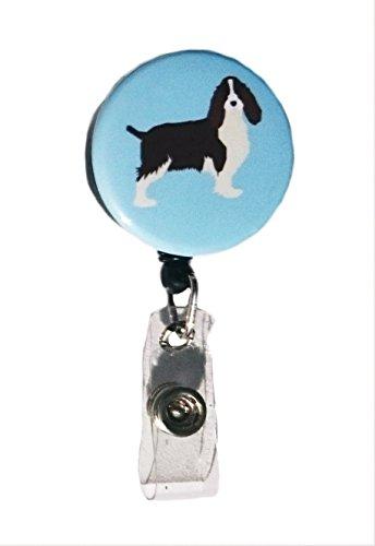 (English Springer Spaniel Dog Breed Retractable Badge Reel ID Badge Holder)