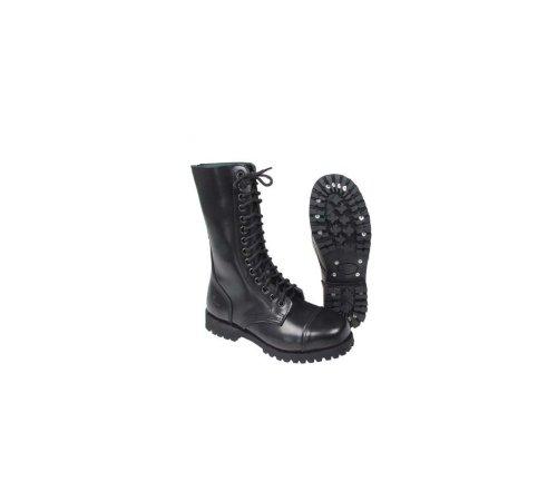 14-Loch Springerstiefel Ranger Stiefel schwarz mit Stahlkappe