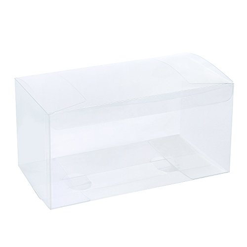 LaRibbons 20Pcs PET Clear Box, Transparent Boxes, Candy Box, Clear Gift Boxes for Wedding, Party and Baby Shower Favors, 9