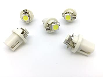 TMT LEDS(TM) 5 X BOMBILLAS LED B8.5D 1 LED SMD 5050 BLANCO SALPICADERO: Amazon.es: Coche y moto