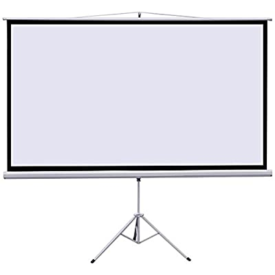 "Gotobuy Portable 100"" Projector 16:9 Projection Screen Tripod Pull-up w/ Stand 87 x 49"""