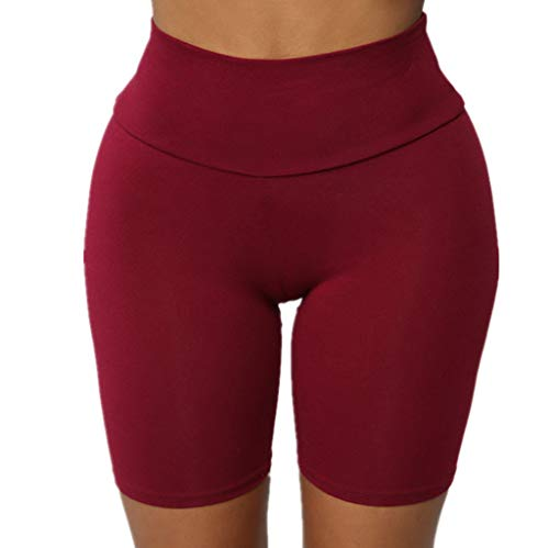 Womens Pure colorHigh Strength Quick Dry Sports Running Fitness Yoga Shorts ()