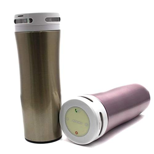 Smart Bluetooth Bicycle Music Keep Cold Intelligent Water Bottle Alloy Cup Support Phone Call - Steel color