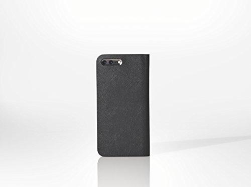 [iPhone 7 Plus Case], SQUAIR - Calf Leather Case for iPhone7 Plus - Book Type (Black) (Black) by SQUAIR (Image #7)