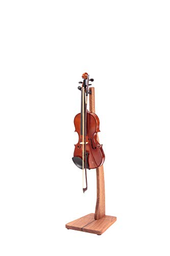 Zither Wooden Violin or Viola Stand - Handcrafted Solid Mahogany Wood Floor Stands, Made in USA