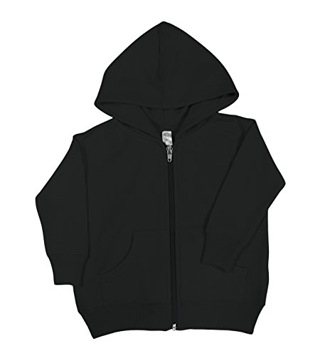 Rabbit Skins Fleece Infant Baby Zip Fleece Hoodie [Size 12 Months] Black Long Sleeve Sweatshirt