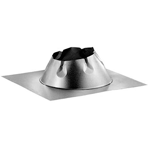 Duratech Flat - Chimney 70780 7 in. Duratech Flashing-flat Roof-Galvanized- Storm Collar Not Included