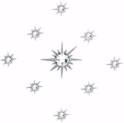 addttoo temporal Wandtatoo-Loft–Adhesivo decorativo estrellas y claro cristales hecho con SWAROVSKI ELEMENTS *