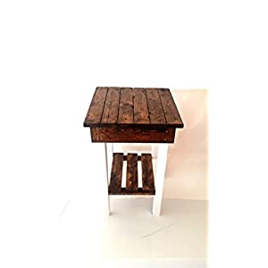 Night Stand/ End Table/Rustic End Table/Rustic Side Table/Bedside Table/Aged/Vintage End Table/Handmade/Custom New…
