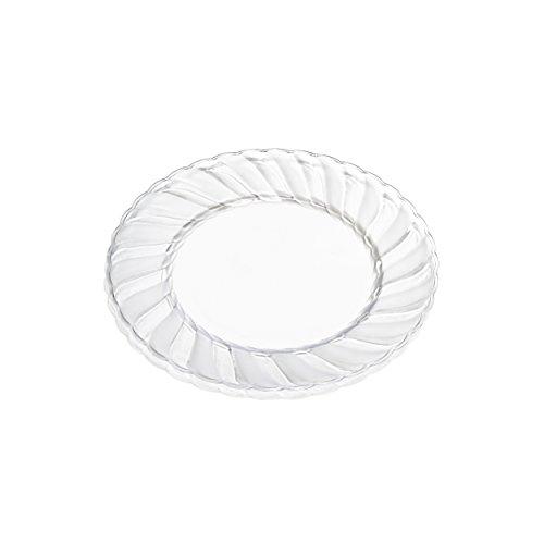 Premium Clear Plastic Plates ...  sc 1 st  EventCompass & Premium Clear Plastic Plates By Alpha u0026 Sigma - 100pcs 6