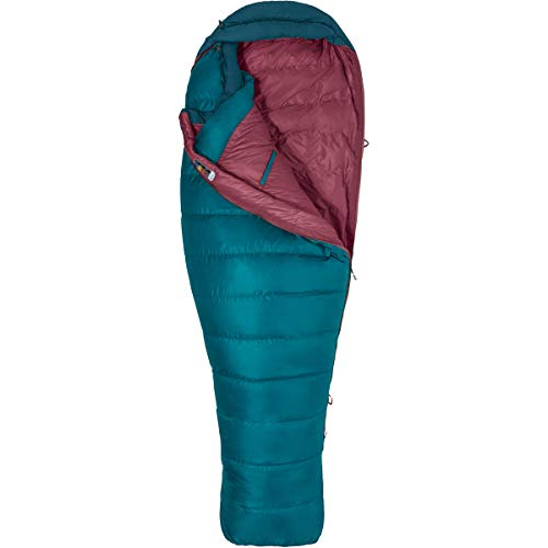 (Marmot Teton Sleeping Bag: 15 Degree Down - Women's Late Night/Vintage Navy, Reg/Right Zip)