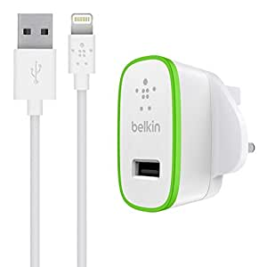 Home charger With Cable USB Plug byBelkin,Silver
