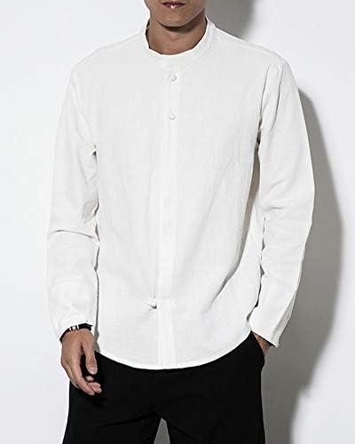 AnyuA Camisa de Lino, de Kung Fu, con Abotonar, Clásico ...