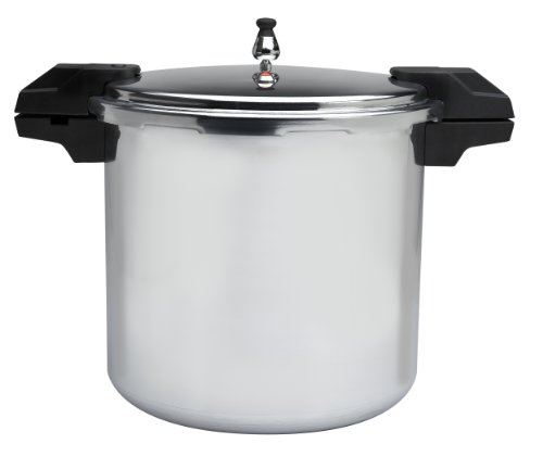 Mirro 92122A Polished Aluminum 5 / 10 / 15-PSI Pressure Cooker / Canner Cookware, 22-Quart, Silver