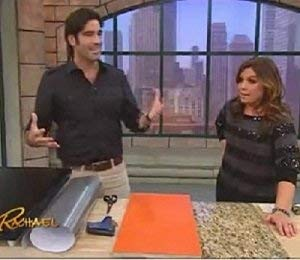 Brushed Stainless Dishwasher Cover: As Seen On TV The Rachael Ray Show, Peel & Stick BRUSHED STAINLESS NICKEL Finish Cover 26'' X 36'' (cut to fit GE,Amana, SPT, Whirlpool, Frigidaire, Bosch and more) by EZ FAUX DECOR (Image #5)