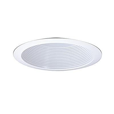 All-Pro Recessed ERT772WHTTS 6-Inch Gloss Trim with Baffle and Reflector