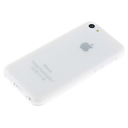 Coque en Silicone pour Apple iPhone 5c - mate transparent - Cover PhoneNatic Cubierta + films de protection