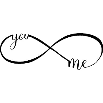 You And Me Infinity Love Inspirational Wall Quotes Sayings Vinyl Beauteous Infinity Love Quotes