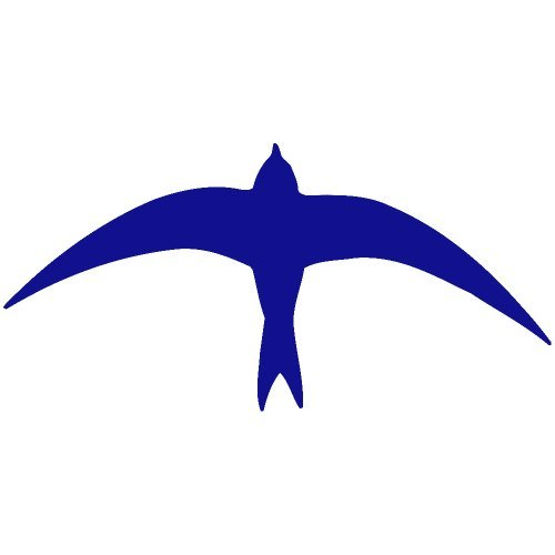 Dove Decal Set - Set of 3 - Dove Bird Decal Sticker Color: Blue- Peel and Stick Vinyl Sticker