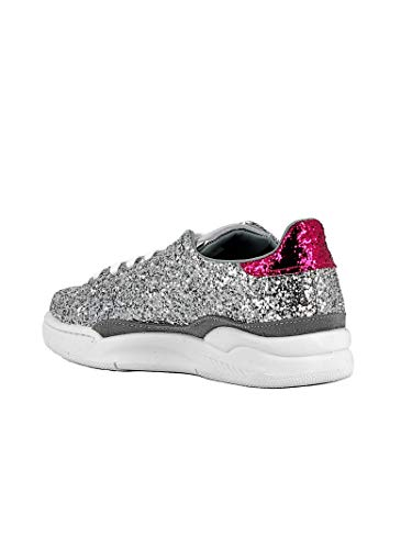 Ferragni Donna Glitter Sneakers Chiara Argento Cf2075 qO8EOd