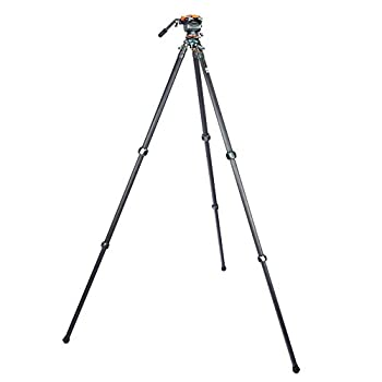 Image of 3 Legged Thing Legends Mike Carbon Fibre Leveling Base Tripod with AirHed Cine and Arca-Swiss Compatible Video Plate