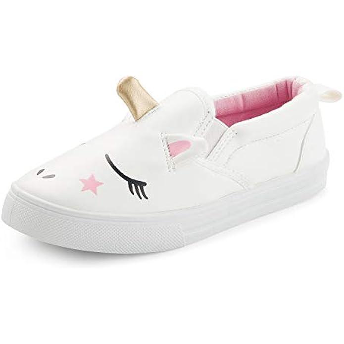 K KomForme Toddler Sneakers for Girls Boys Slip On Loafers & Moccasins Lazy Kids Shoes