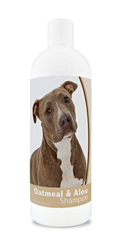 Healthy Breeds Oatmeal Dog Shampoo for Dry Itchy Skin for Pit Bull Brown- Over 200 Breeds - 16 oz - Mild & Gentle for Sensitive Skin - Hypoallergenic Formula & pH Balanced