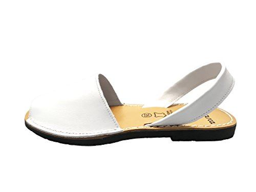 AVARCAS 101 Avarcas Women's Flat Leather Summer Sandals White recommend cheap online sale Cheapest cgjqTk