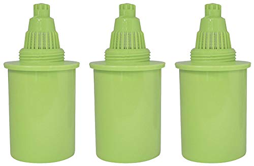 (PURE GREEN WATER FILTER 3 Pack Water Pitcher Replacement Filters Pitcher )