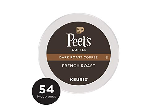 French Medium Roast Coffee - K-Cup Pack Peet's Coffee French Roast K-Cup Pack 54 count single serve coffee cups