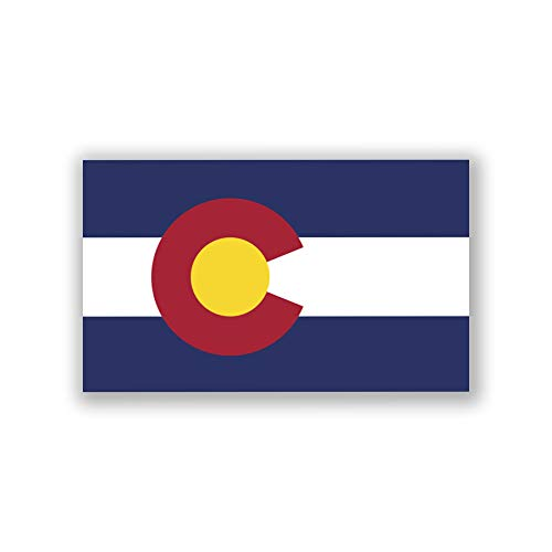 (2-Pack Colorado State Flag Decal Sticker | Official State Flag of Colorado Sticker | 5-Inches by 3-Inches | Premium Quality UV Protected Laminated Vinyl | PD312)