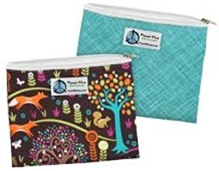 product image for Planet Wise Reusable Zipper Sandwich Bag - Drip Drop and Jewel Woods