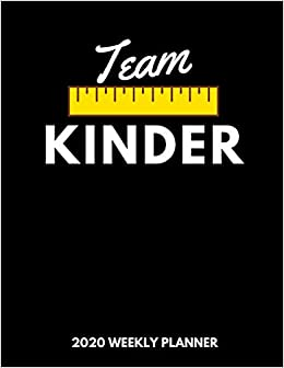 Calendrier Avent Kinder 2020.Amazon Fr Team Kinder 2020 Weekly Planner A 52 Week