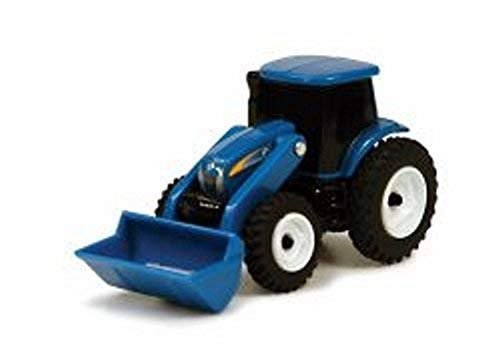 New Holland TS100 Series Tractor with Loader, Blue - ERTL Collect N' Play  - Model Toy Farm Vehicle