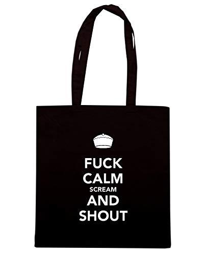 Speed Borsa Nera Shirt CALM SHOUT FUCK Shopper AND TKC3777 SCREAM rf5rwqv