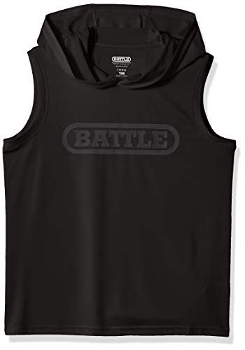 - Battle Youth Sleeveless Light Action Hoodie - Black
