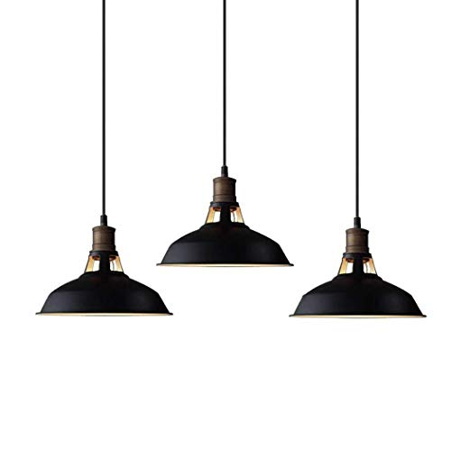 CLAXY Ecopower Industrial Mini Metal Barn Pendant Light 3 Pack