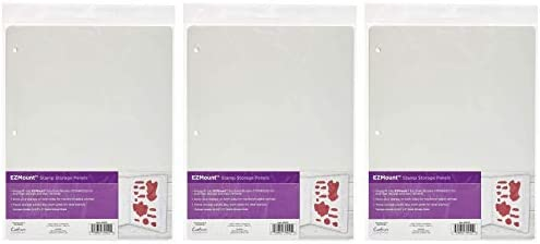 1 Pc Acrylic Stamps with Foam Sheet Cling Rubber Tabbed 4//Pkg for Clear Set Includes Mini Craft Accessories Pouch   Both Items 8.5 inch x 11 inch Stamp Storage Panels