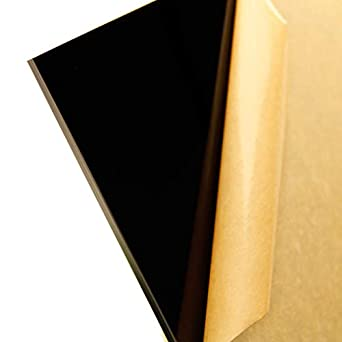 AdirOffice Plexiglass Opaque Black Acrylic Sheet 12 x 24 x 1//8 in Thick  6-Pack