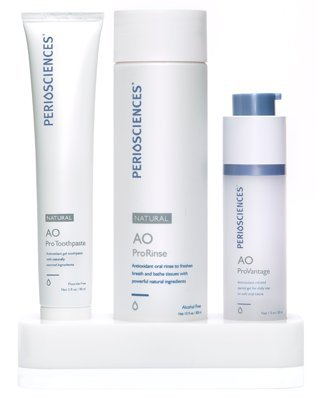 - PerioSciences Antioxidant Oral Care System Natural - 3 Product Starter Kit Includes Dental Gel, Toothpaste and Mouth Wash