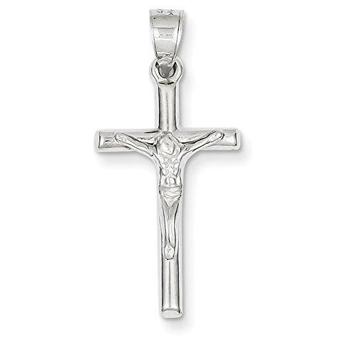 14k White Gold Crucifix Pendant D3227