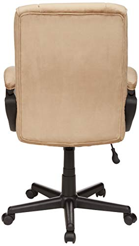 AmazonBasics Classic Office Chair - Adjustable, Swiveling, Microfiber Cover - Light Beige - 4
