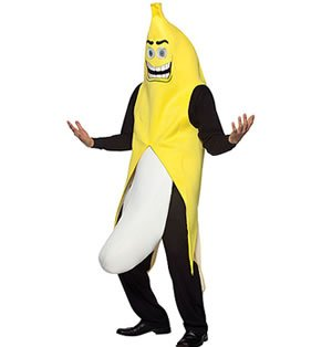 50's Halloween Costumes Ideas (Banana Flasher Costume - One Size - Chest Size 48-52)
