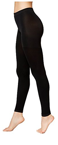 Spanx Women's Ribbed Knit Footless Tights Very Black (E)