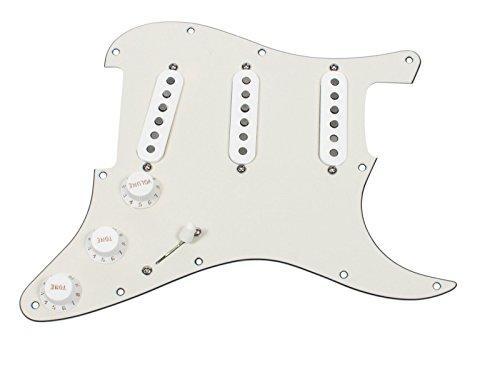 (Seymour Duncan SSL-1 Loaded Strat Pickguard Strat Parchment / White)